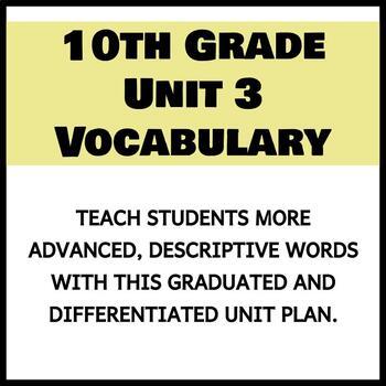 Vocabulary Unit 3 - 10th Grade