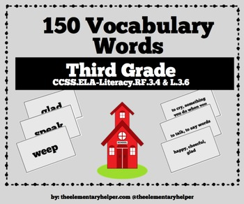 Vocabulary Unit: Third Grade