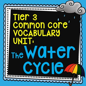 The Water Cycle Vocabulary Unit