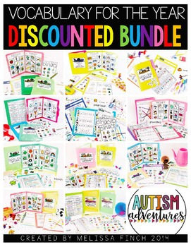 Vocabulary Unit Year Long Bundle- For Special Education