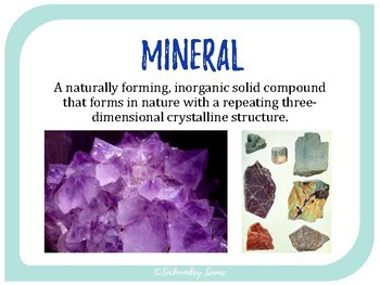 Minerals - 6th Grade Science Vocabulary