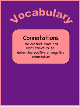Vocabulary-Use Context Clues and Word Structure to Determine Connotations