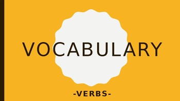 Vocabulary - VERBS