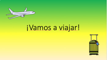 "Vocabulary: ""Vamos a Viajar"""
