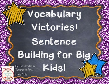 Vocabulary Victories: Sentence Building for Big Kids!