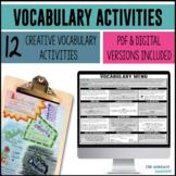 Vocabulary Visionary - Word Work Menu of Activities