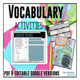 Vocabulary Visionary - Word Work Menu of Activities