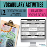 Vocabulary - Menu of Activities [DISTANCE LEARNING]
