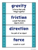 Vocabulary WALL CARDS: Force and Motion