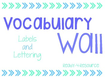 Vocabulary Wall Lettering and Labels