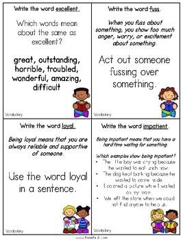 Vocabulary Warm Ups