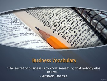Vocabulary Warmup PPT