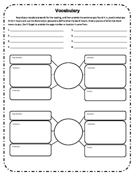 Vocabulary Web Organizer
