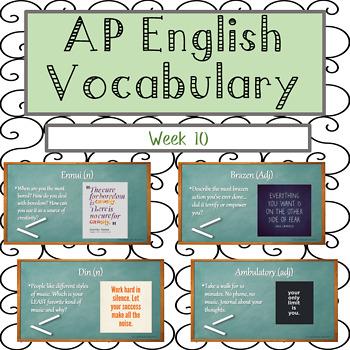Vocabulary Week 10