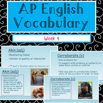 Vocabulary Week 4