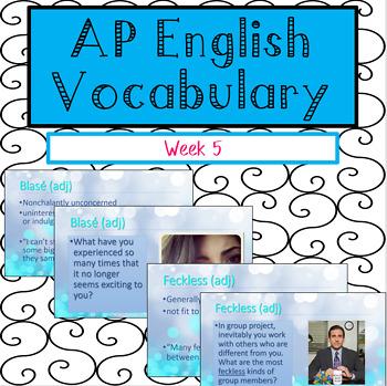 Vocabulary Week 5