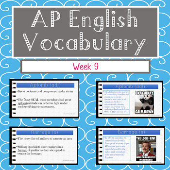 Vocabulary Week 9