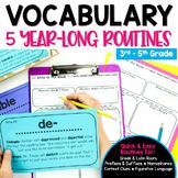 Vocabulary Weekly Activities Bundle