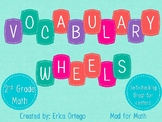 Vocabulary Wheels for 2nd Grade Math - Centers, Review, Test Prep, Self-Checking