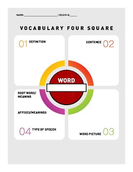 Vocabulary Word Activities