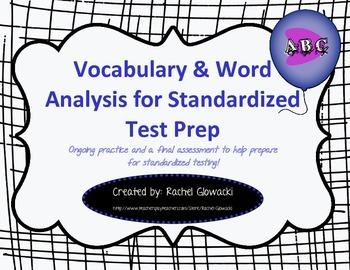 Vocabulary & Word Analysis for Standardized Test Prep