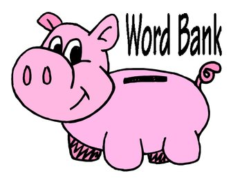 Vocabulary Word Bank Poster
