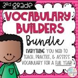 Third Grade Vocabulary FULL YEAR Bundle