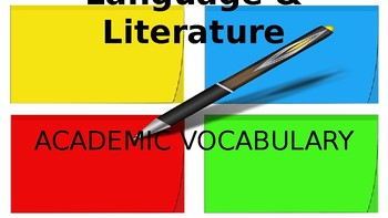 Vocabulary Notebook Graphic Organizers
