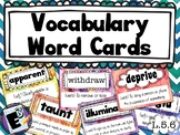 Vocabulary Word Cards