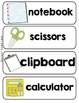 Vocabulary Word Cards (ALL TOPICS)