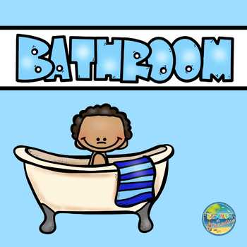 Vocabulary Word Cards--Bathroom Items