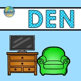 Vocabulary Word Cards--Den
