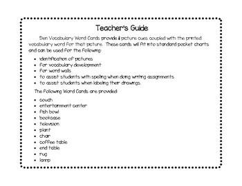 Vocabulary Word Cards--Den