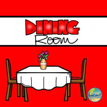 Vocabulary Word Cards--Dining Room