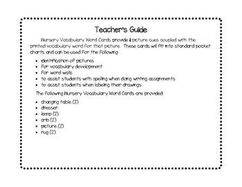Vocabulary Word Cards--Nursery