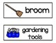 Vocabulary Word Cards--What's in the Garage?