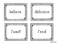 Vocabulary Word Cards for Reading Wonders 2nd grade {Units 1-6}