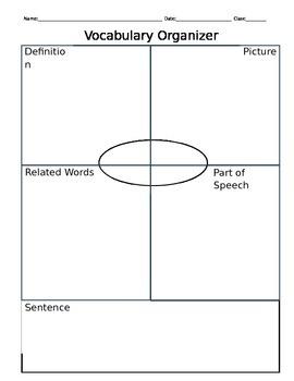 Vocabulary Word Chart Pack 2