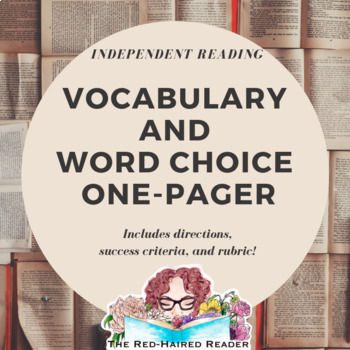 Vocabulary One-Pager