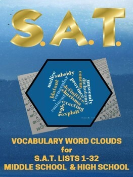 Vocabulary Word Clouds for SAT Lists 1-32