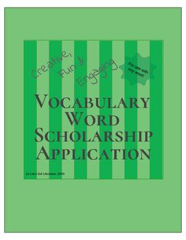 Vocabulary Activity Scholarship Application