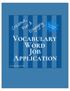 Vocabulary Activity Job Application