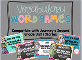 Vocabulary Word Games {Journey's Second Grade Unit 1}