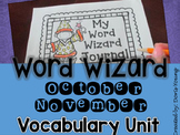 Vocabulary  Word Journal: October and November Set