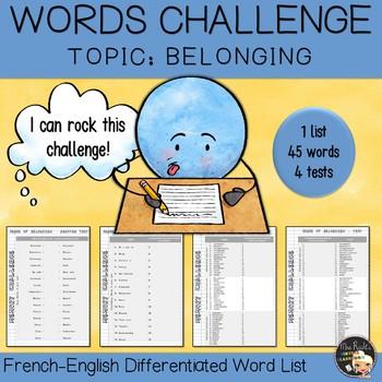 Vocabulary Word List Belonging