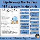 Vocabulary Word List Bundle 4e