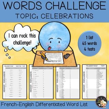 Vocabulary Word List Celebrations