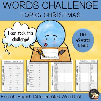 Vocabulary Word List Christmas
