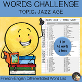 Vocabulary Word List Jazz Age