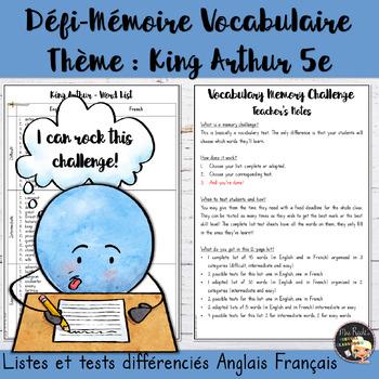 Vocabulary Word List King Arthur